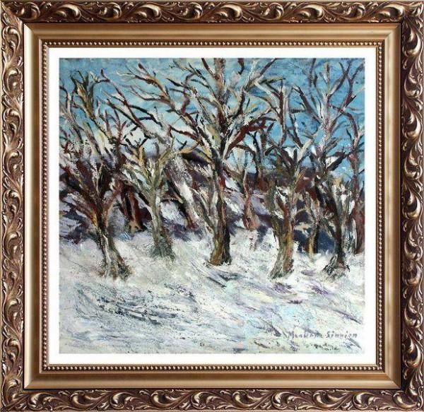 Picturi cu peisaje Padure castan