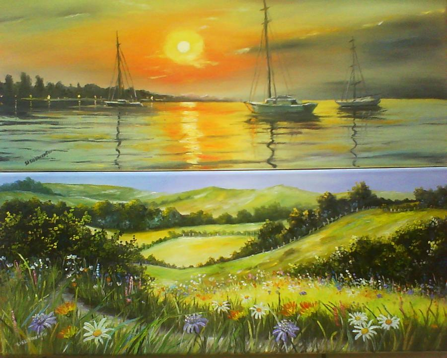 Picturi cu peisaje 2x1