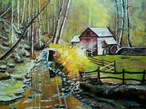 Picturi cu peisaje Moara cu noroc