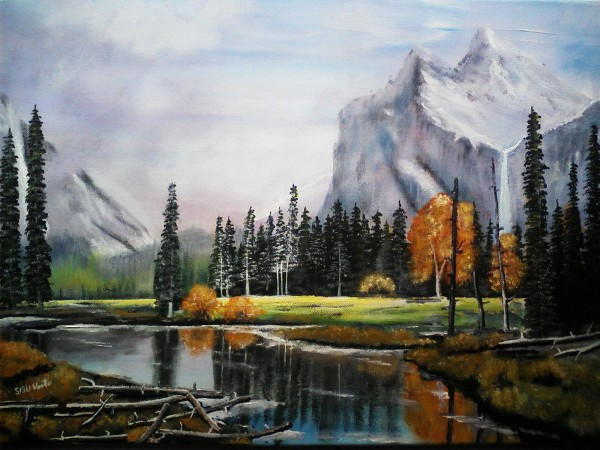 Picturi cu peisaje Peisaj de munte 3