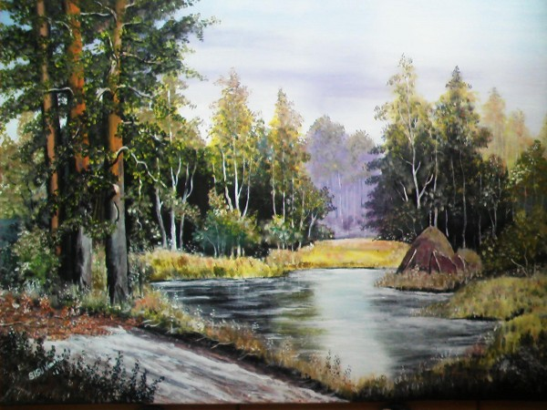 Picturi cu peisaje Peisaj de vara-chemarea padurii