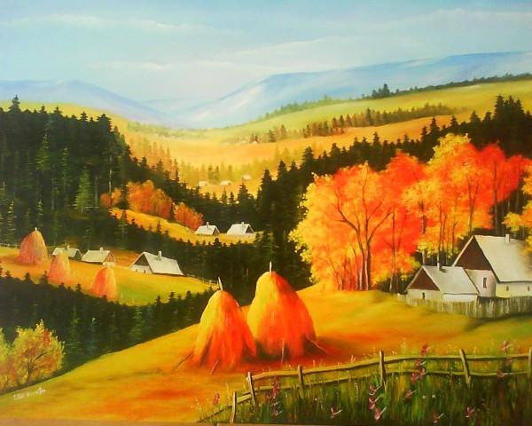 Picturi cu peisaje Peisaj rustic 2