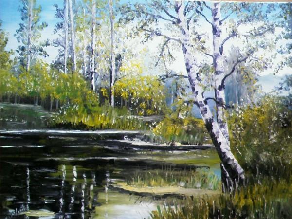 Picturi cu peisaje Placerea verii