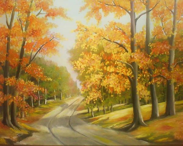 Picturi cu peisaje Tril de toamna 2