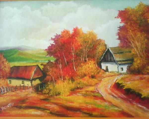 Picturi cu peisaje Vant de toamna
