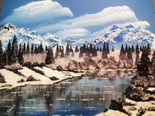 Picturi cu peisaje Vis de iarna