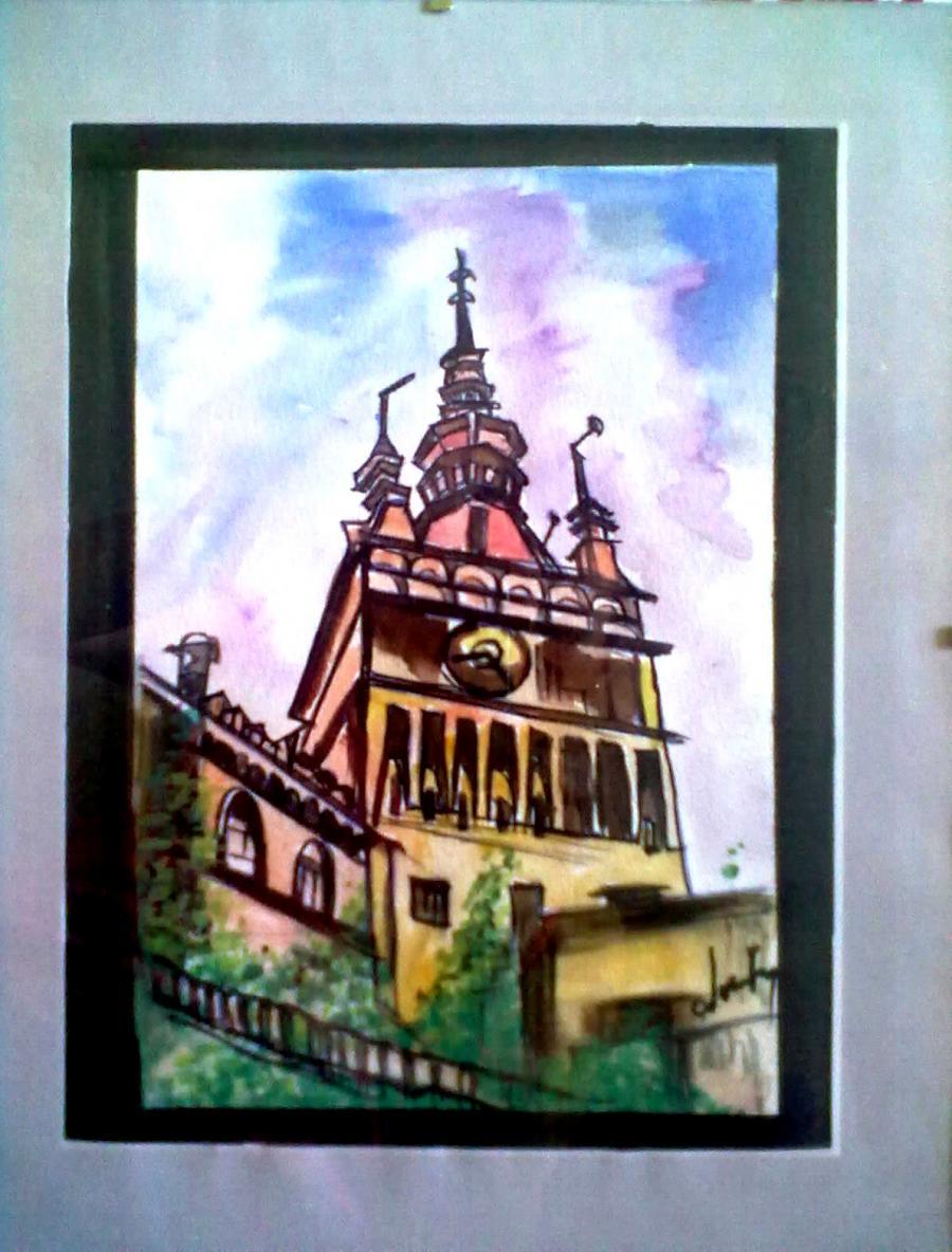 Picturi cu peisaje Turnul din Sighisoara