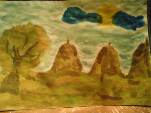 Picturi cu peisaje Campie 3