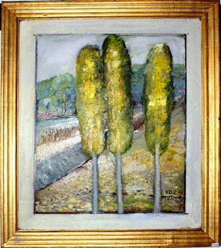 Picturi cu peisaje Plopii