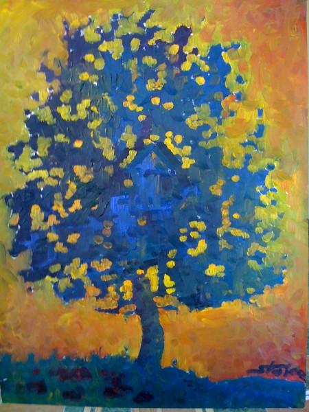 Picturi cu peisaje Copacul cunoasterii
