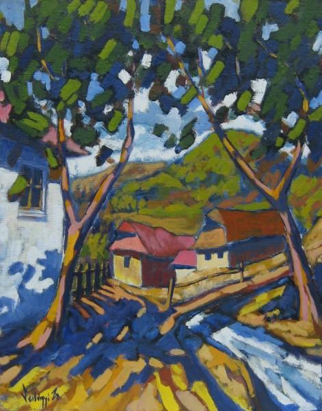 Picturi cu peisaje Case vechi