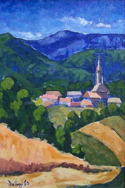 Picturi cu peisaje Sat maramuresan 3