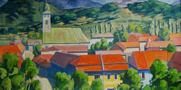 Picturi cu peisaje Vedere din turn