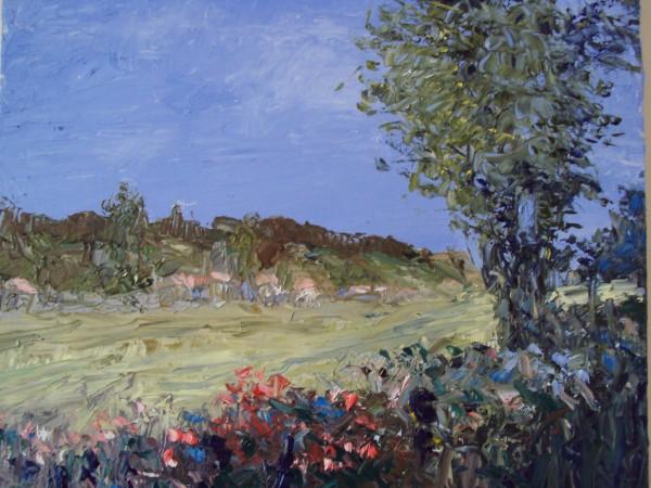 Picturi cu peisaje Drum cu flori
