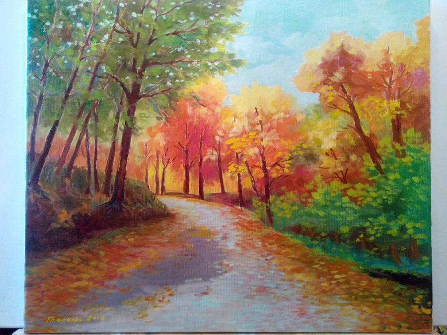 Picturi cu peisaje Peisaj padure 3