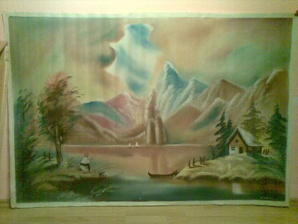 Picturi cu peisaje Pescar
