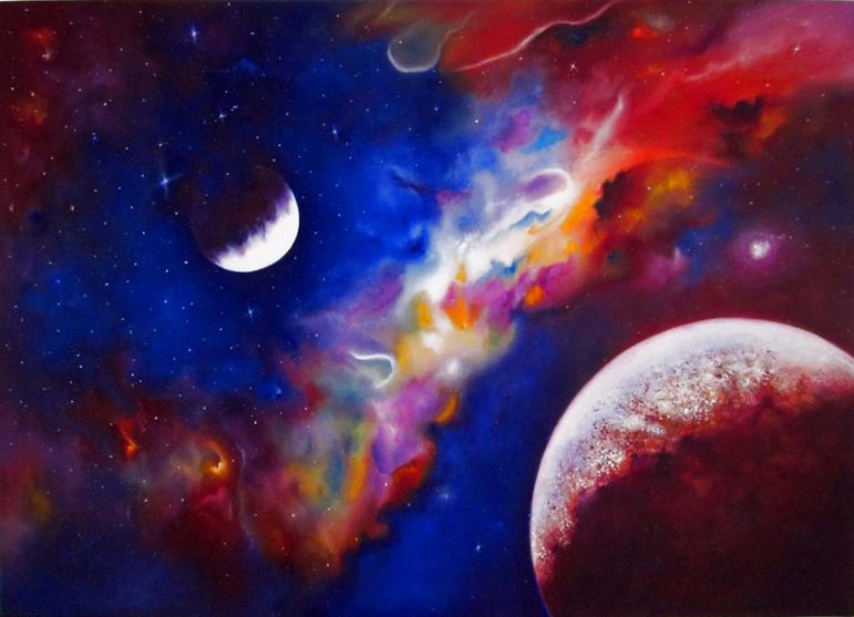 Picturi abstracte/ moderne Peisaj cosmic
