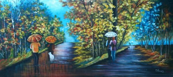 Picturi cu peisaje Anotimpul ploios