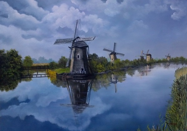 Picturi cu peisaje Peisaj olandez