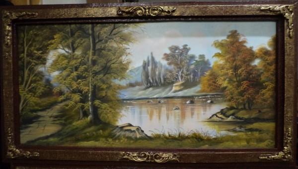 Picturi cu peisaje Poteca de langa lac