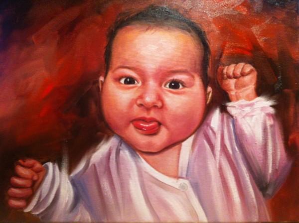 Picturi cu potrete/nuduri Portret bebe
