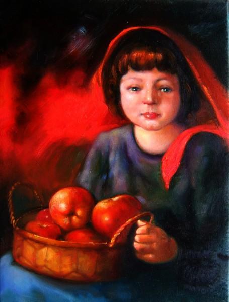 Picturi cu potrete/nuduri Bucuriile copilariei