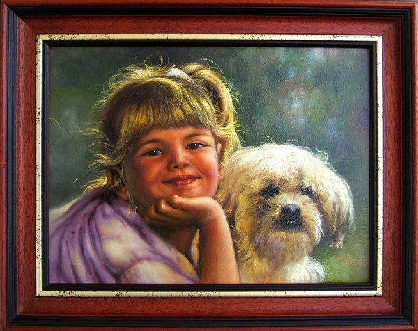 Picturi cu potrete/nuduri Din copilarie