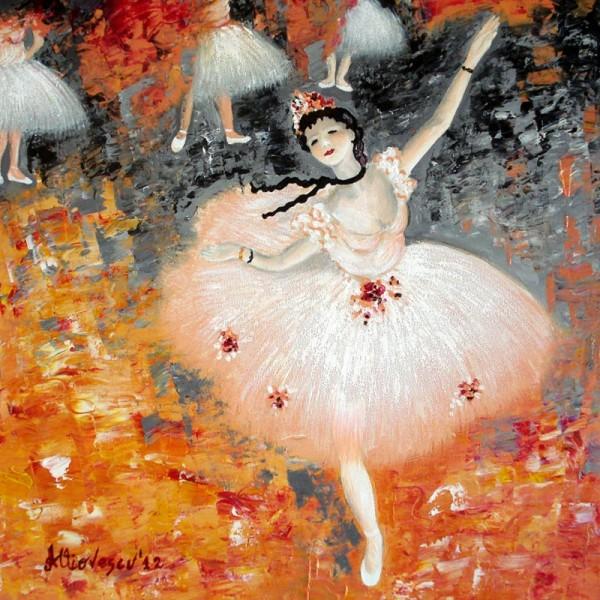 Picturi cu potrete/nuduri Balerina