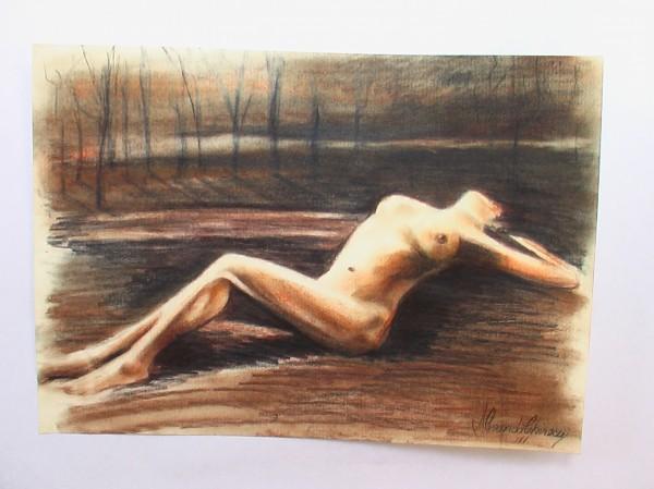 Picturi cu potrete/nuduri Nud culcat