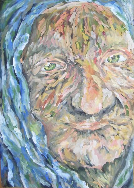 Picturi cu potrete/nuduri Batrina