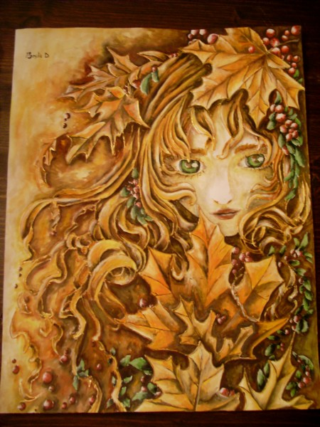 Picturi cu potrete/nuduri Printesa toamnei