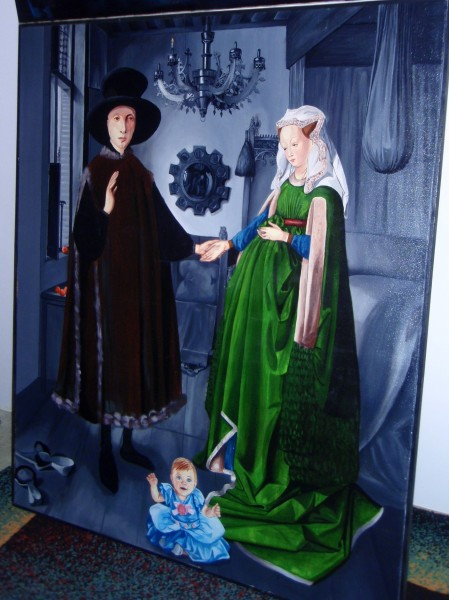 Picturi cu potrete/nuduri Sotii arnolfini   interpretare