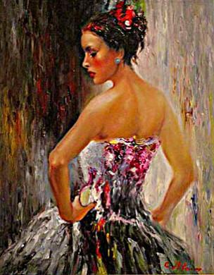 Picturi cu potrete/nuduri Balerina 50