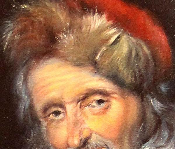 Picturi cu potrete/nuduri Detaliu degustatorul de vin
