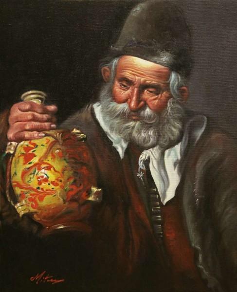 Picturi cu potrete/nuduri Drink man
