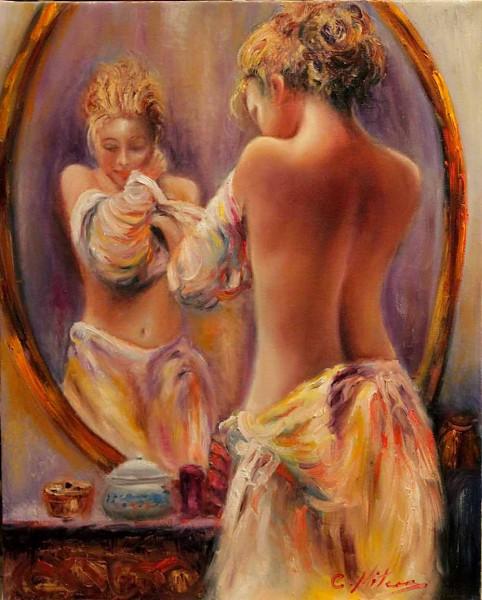 Picturi cu potrete/nuduri Reflectii