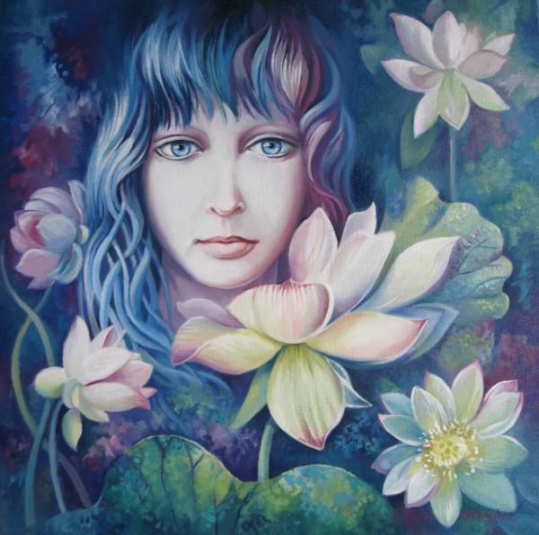 Picturi cu potrete/nuduri Floare de lotus
