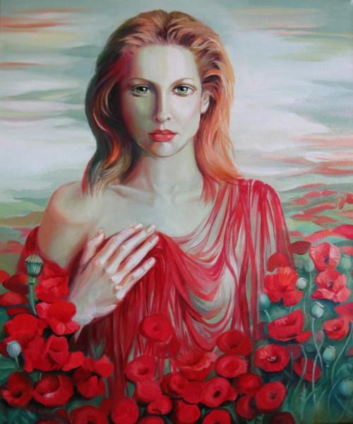 Picturi cu potrete/nuduri Red ocean