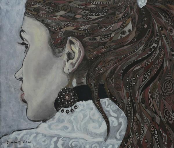 Picturi cu potrete/nuduri Fata cu cercel