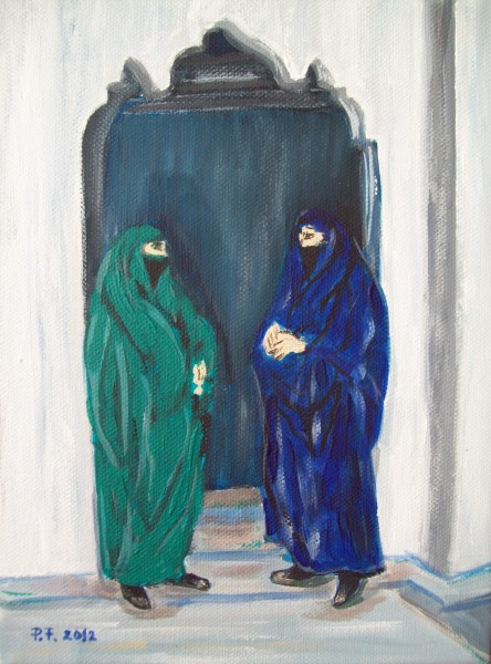 Picturi cu potrete/nuduri Scena araba