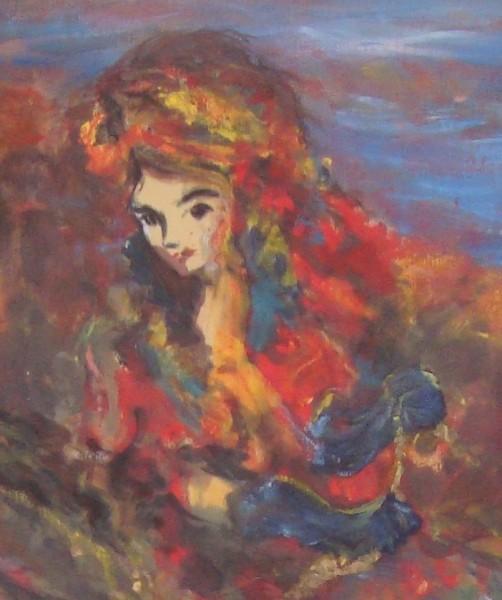 Picturi cu potrete/nuduri Nimfa - detaliu portret