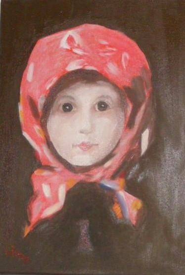 Picturi cu potrete/nuduri Fetita cu batic