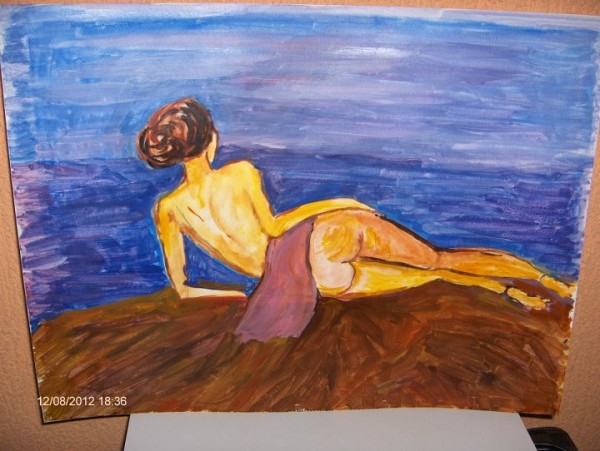 Picturi cu potrete/nuduri Nud pe malul marii