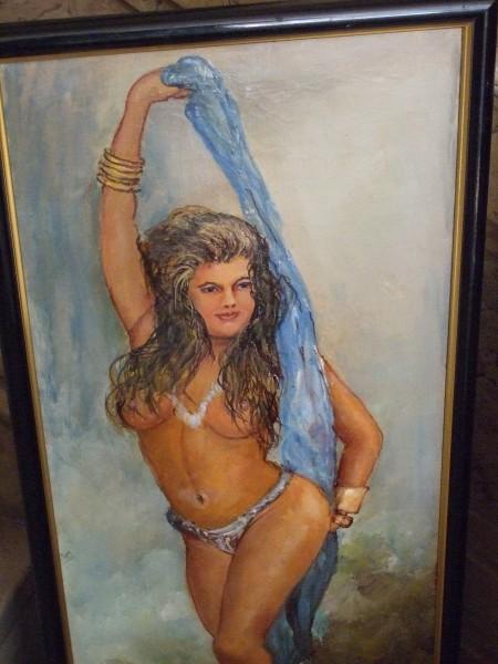 Picturi cu potrete/nuduri Fata cu esarfa