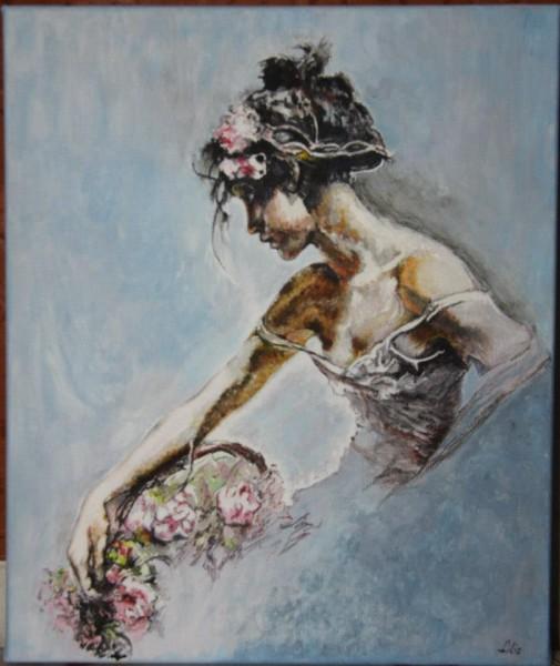 Picturi cu potrete/nuduri Cosul cu flori
