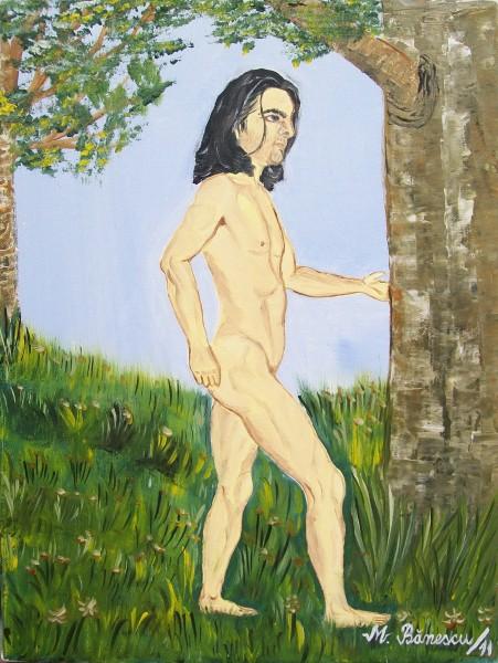 Picturi cu potrete/nuduri Nud mergand...
