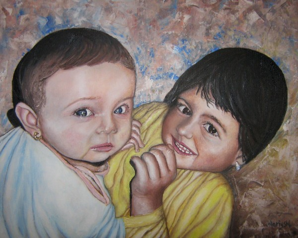 Picturi cu potrete/nuduri Printese mici