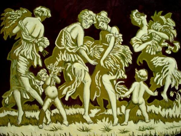 Picturi cu potrete/nuduri Alegorie-seceris