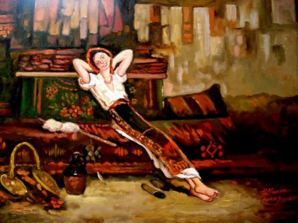 Picturi cu potrete/nuduri Fata cu zestre