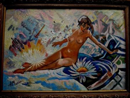 Picturi cu potrete/nuduri Nud cu fata